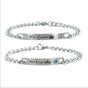 Jewelry - 💕2 for $35💕Couples Silver Bracelet Set